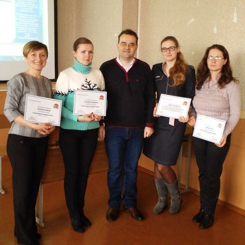 The participants who passed all three courses and successfully completed practical assignments received a certificate of graduation
