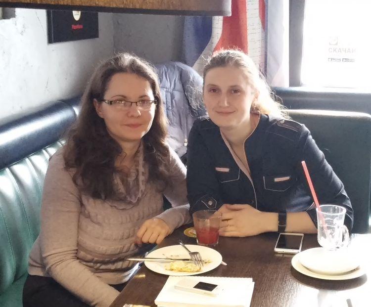 Участники школы Ирина Русак и Дарья Сушкевич