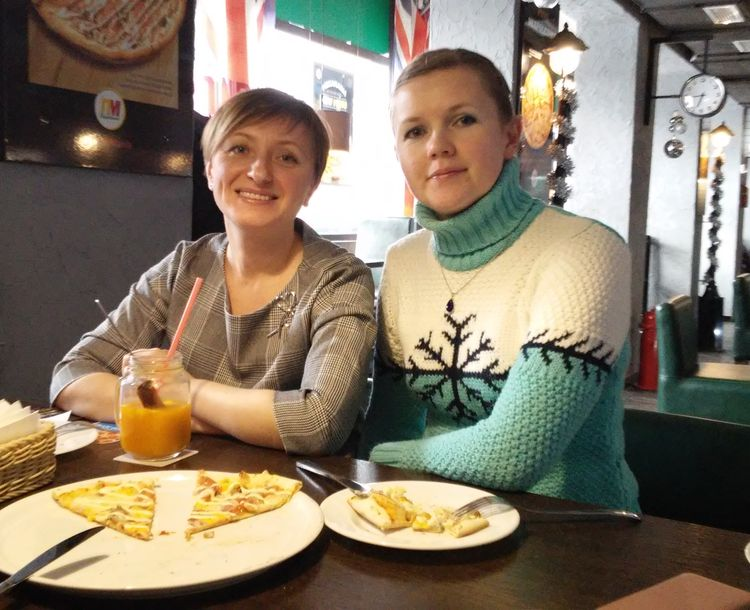 Участники школы Татьяна Корзун и Татьяна Буховец