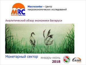 Обзор монетарного сектора Беларуси. Январь-июнь 2018 года